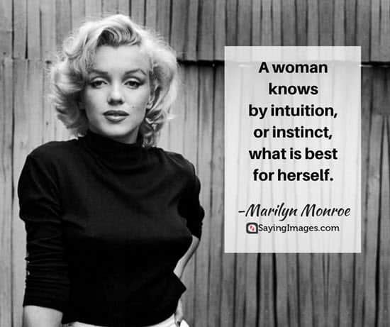 marilyn monroe intuition quotes
