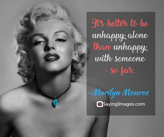 marilyn monroe unhappy quotes