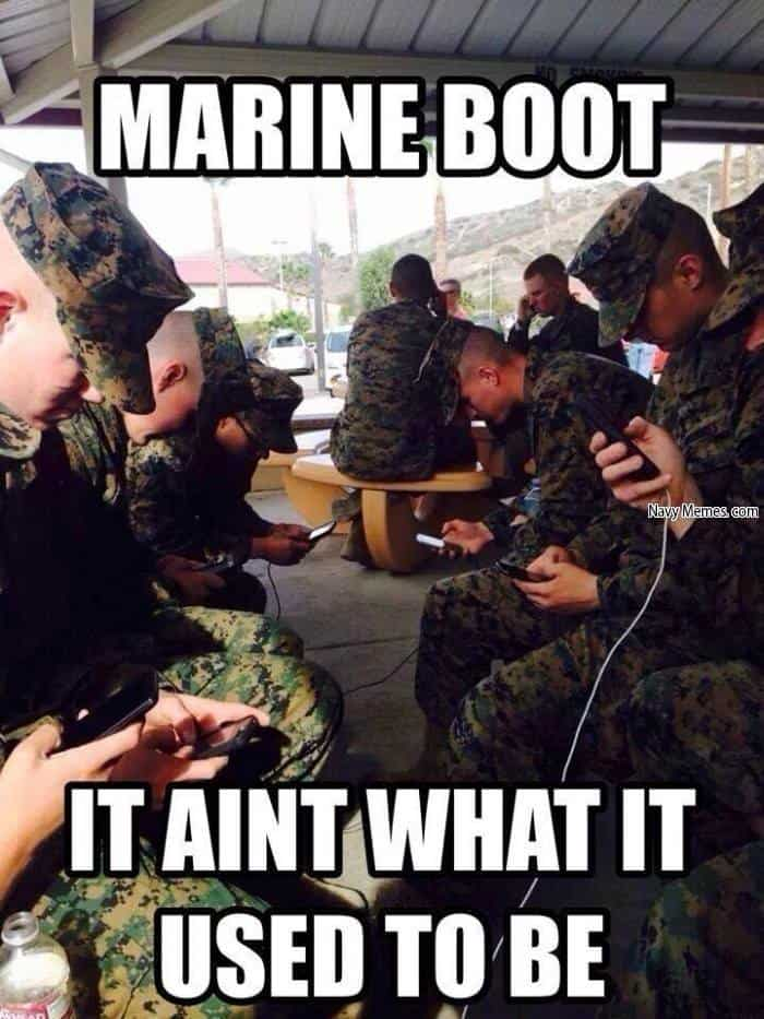 marine boot it aint what it used to be marine corps memes