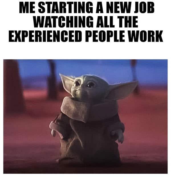 me starting a new job meme