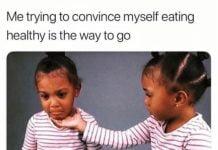 eating healthy memes