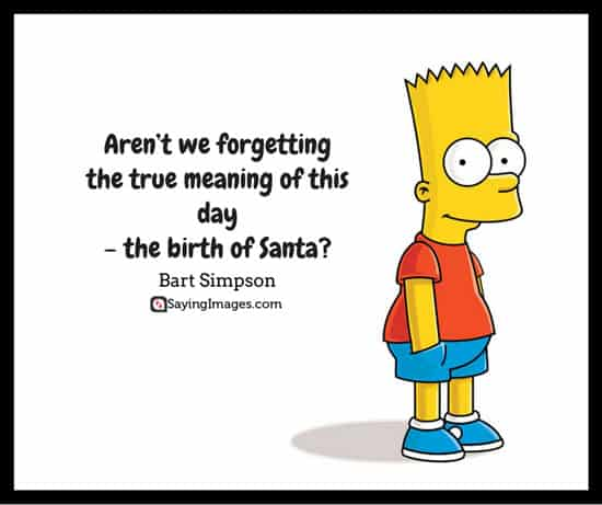 merry christmas quotes bart simpson
