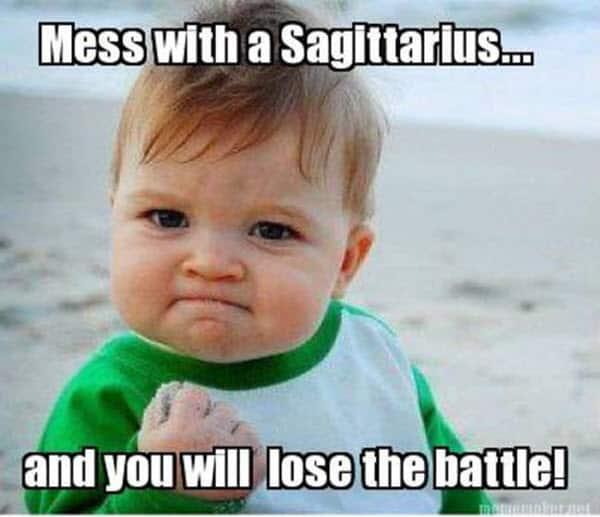 mess with a sagittarius meme