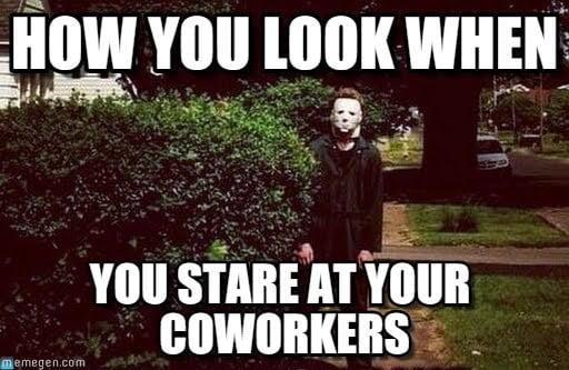 michael myers coworker memes