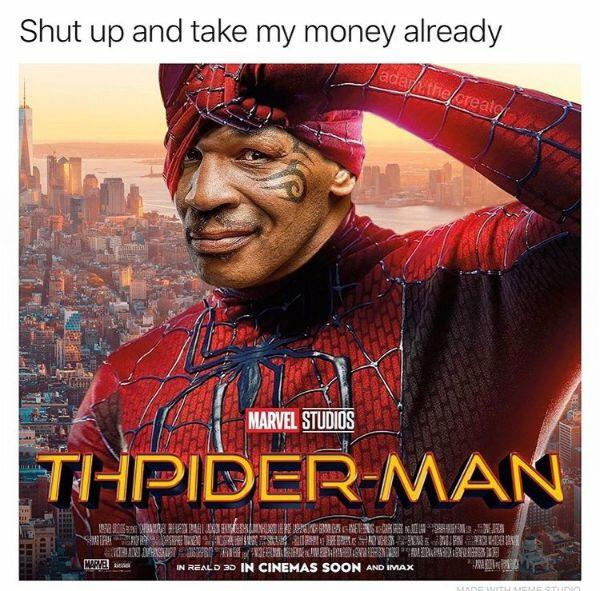 mike tyson thpiderman memes