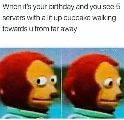 monkey puppet birthday meme