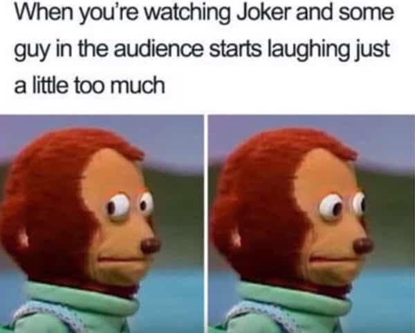 monkey puppet joker meme