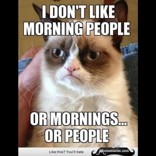 morning dont like meme