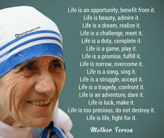 Mother Teresa Life Quotes