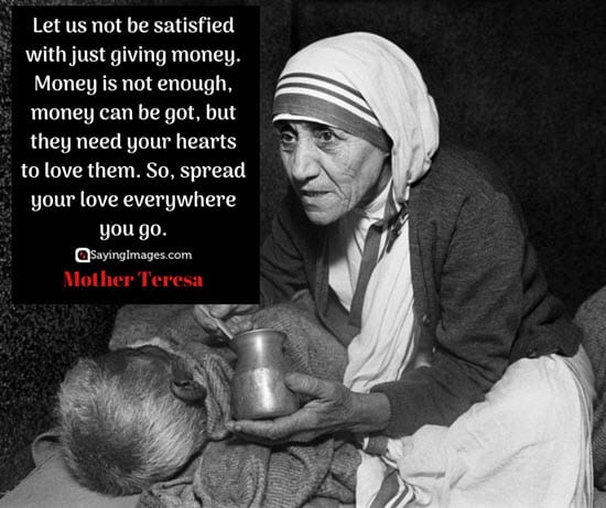 mother teresa money quotes