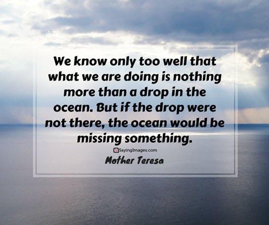 mother teresa ocean quotes