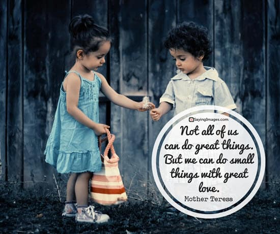 mother teresa small things quotes