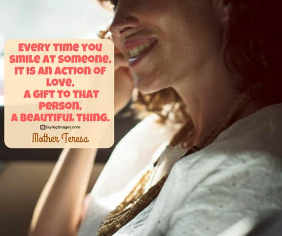 mother teresa smile quote