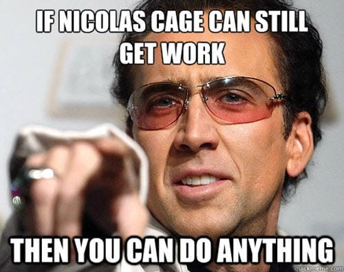 motivational nicolas cage memes
