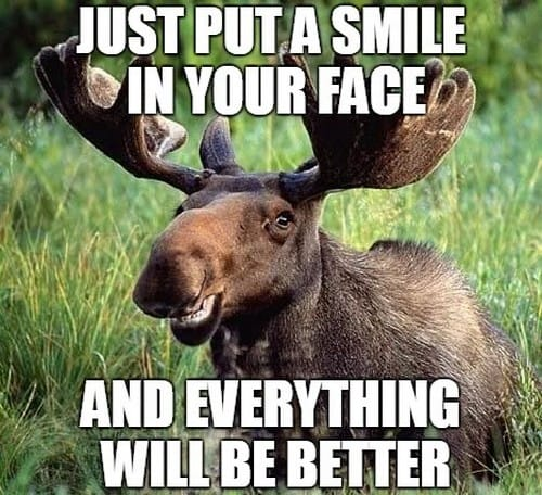 motivational put a smile in your face memes