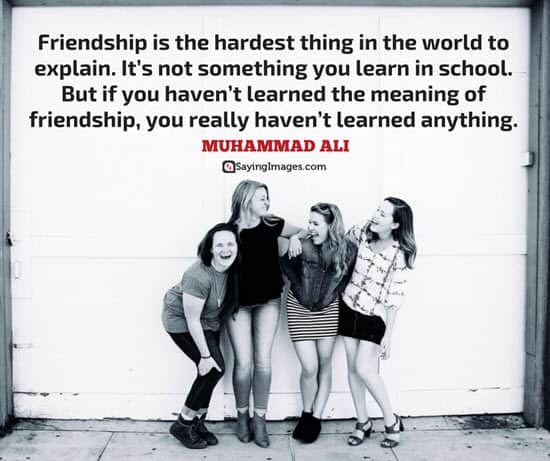 muhammad ali quotes about friends