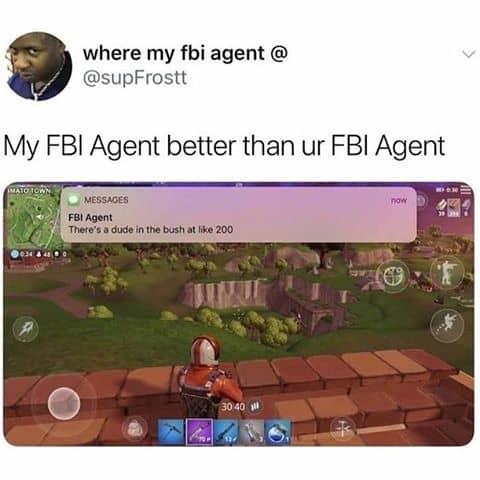 my fbi agent meme