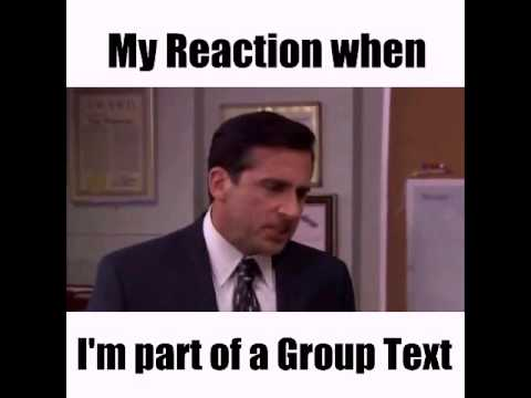 my reaction when im part of a group text meme