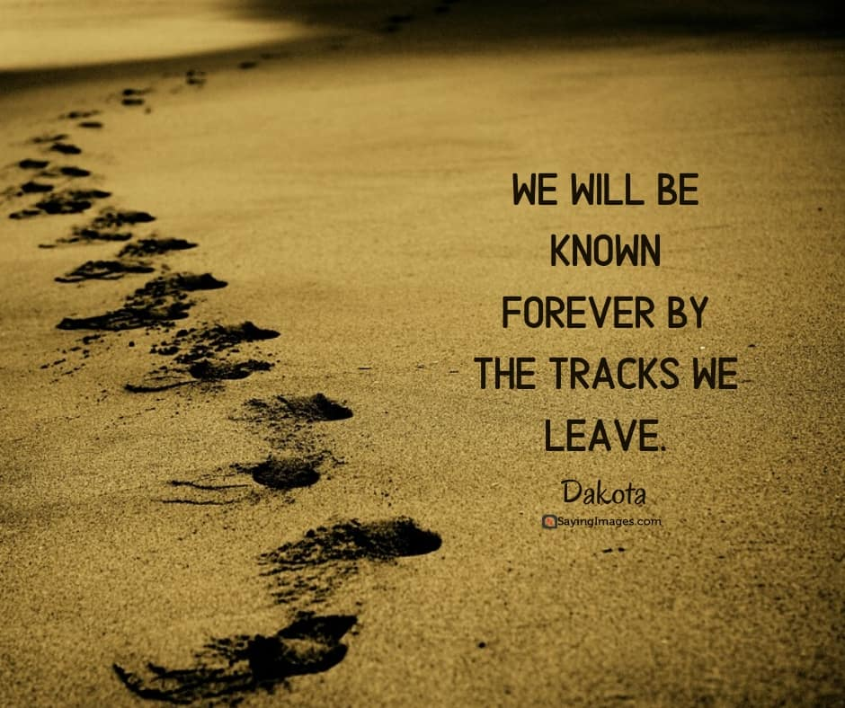 native american tracks quotes