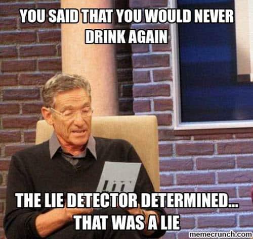 never drinking meme