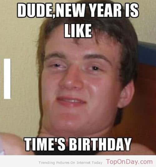 new year dude meme