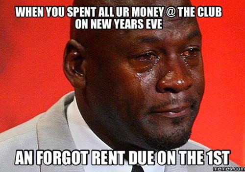 new year forgot meme