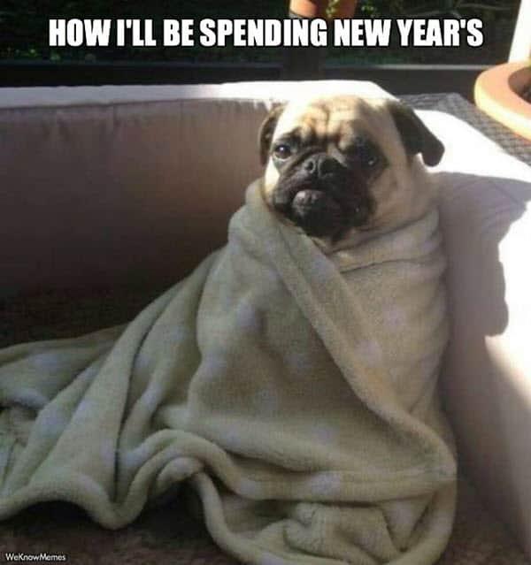 new year spending meme