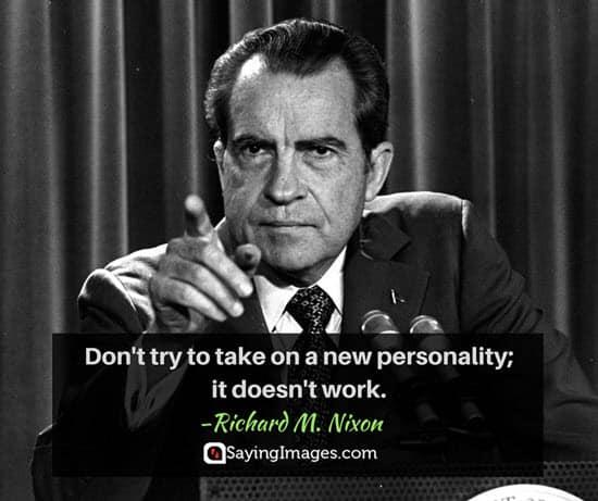 nixon personality quotes