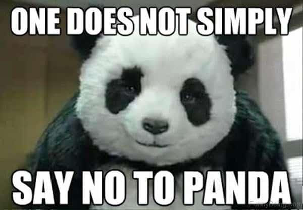 no panda memes