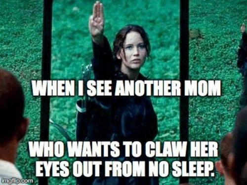 no sleep hunger games mom meme