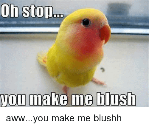 oh stop you make me blush blushing meme 20 blushing memes that are way too cute to be resisted