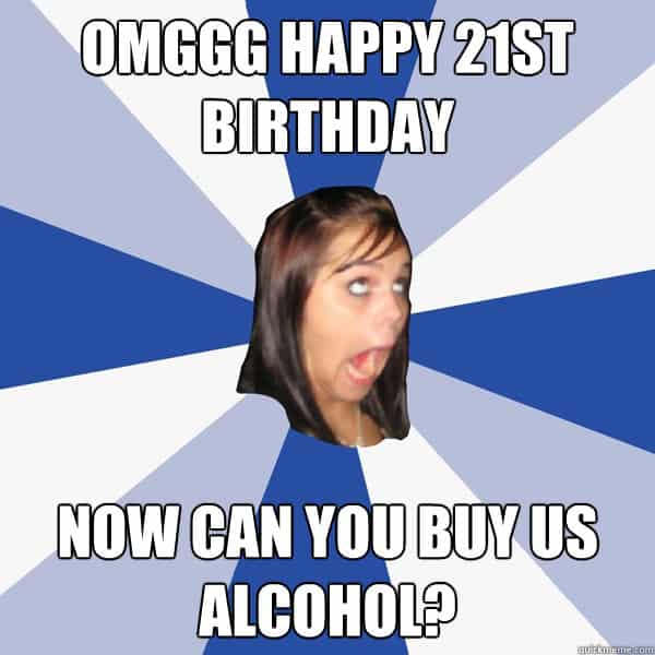 20 Funniest Happy 21st Birthday Memes | SayingImages.com