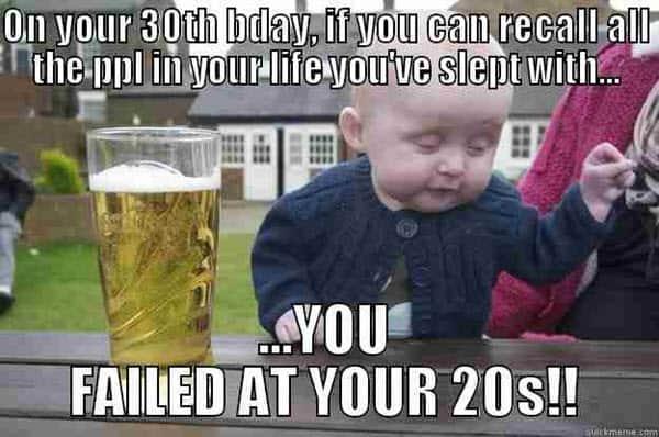 on your 30th birthday meme