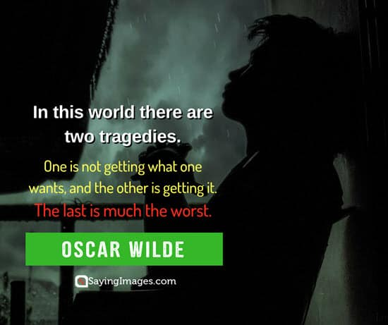 oscar wilde tragedy quotes