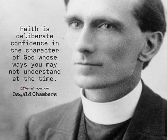 oswald chambers faith quotes