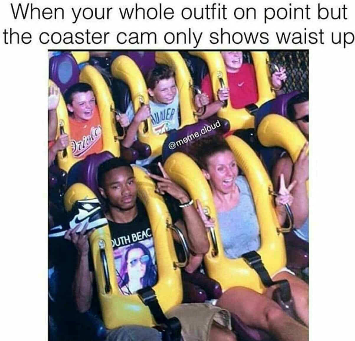 outfit rollercoaster meme