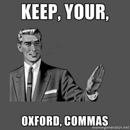 oxford comma keep meme