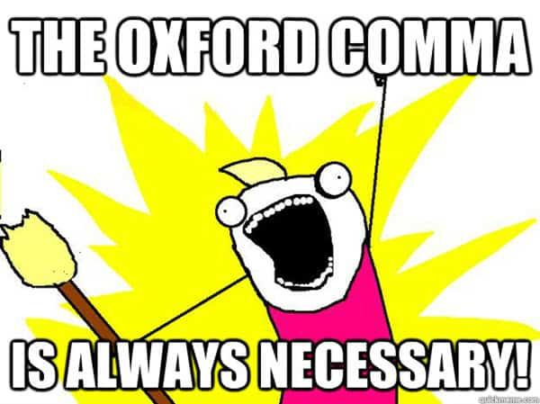 oxford comma the meme