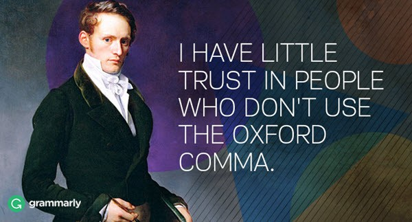 oxford comma trust issues meme