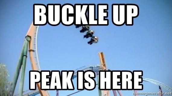 peak rollercoaster meme