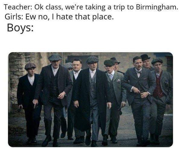 peaky blinders birmingham memes