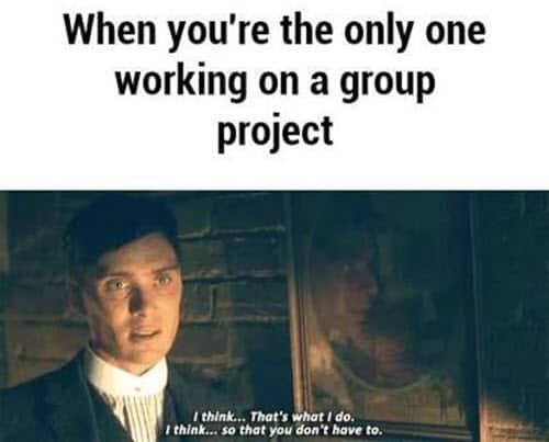 peaky blinders group project memes