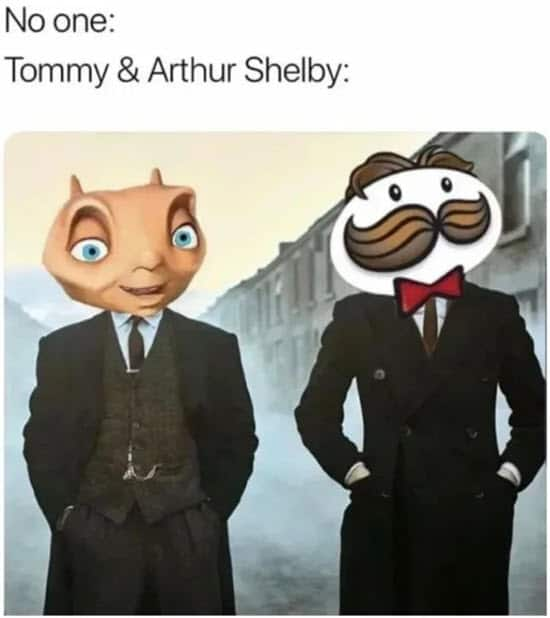 peaky blinders tommy and arthur shelby memes