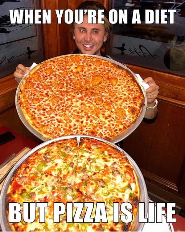 pizza is life meme