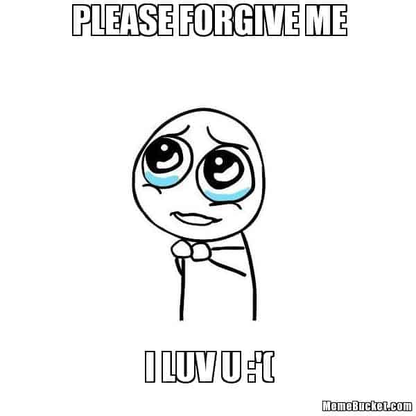 Image result for please forgive me funny