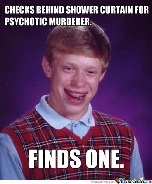 psycho checks behind meme