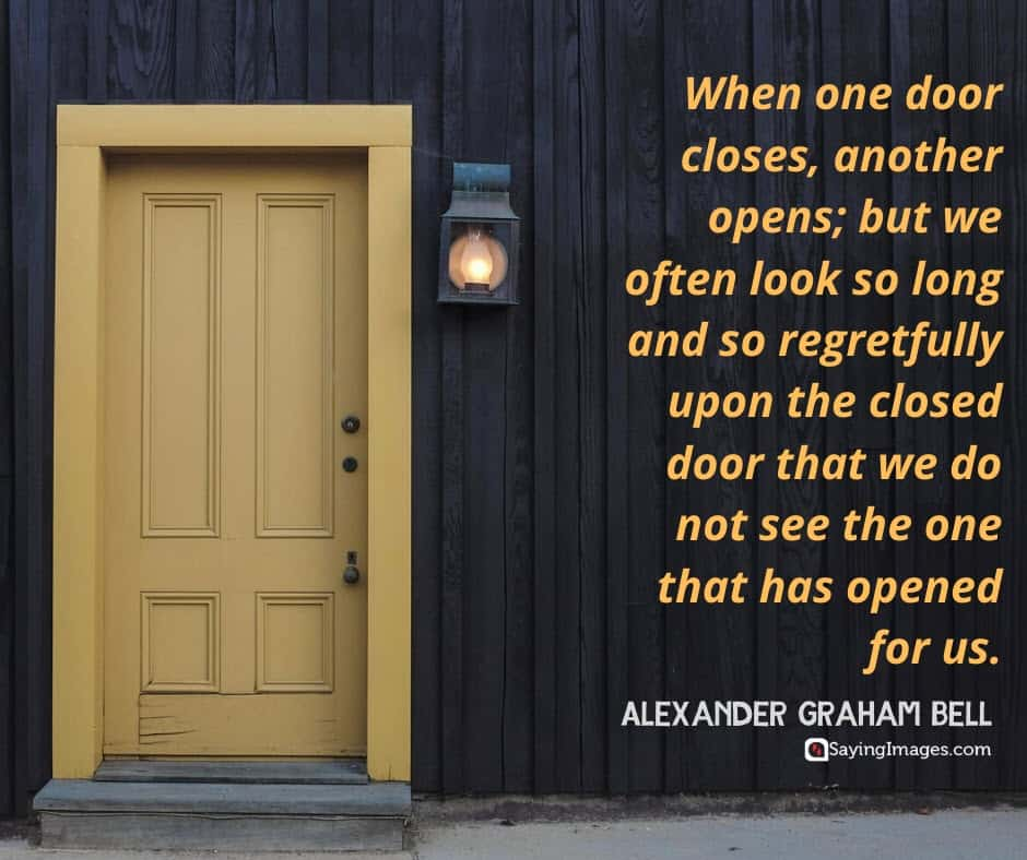 quotes about life door