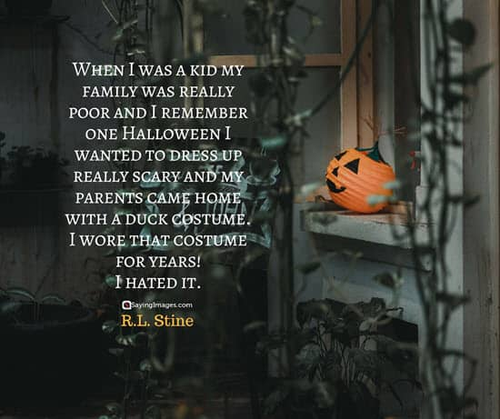 r l stine halloween quotes