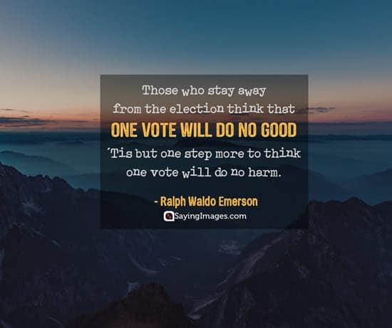 ralph waldo emerson vote quotes