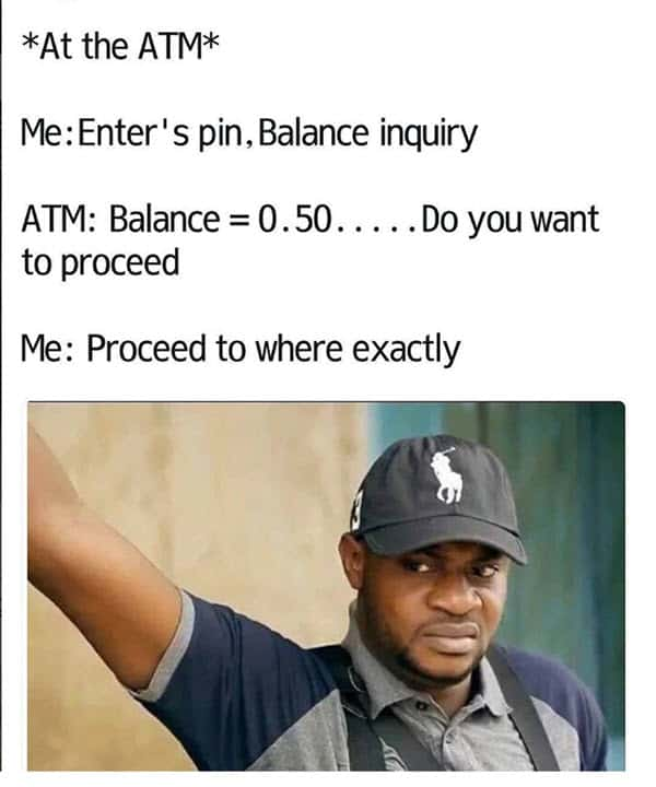 really funny at the atm memes